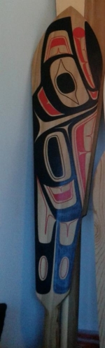 C.Savard. Raven Paddle. 5 ft Ref Cedar.